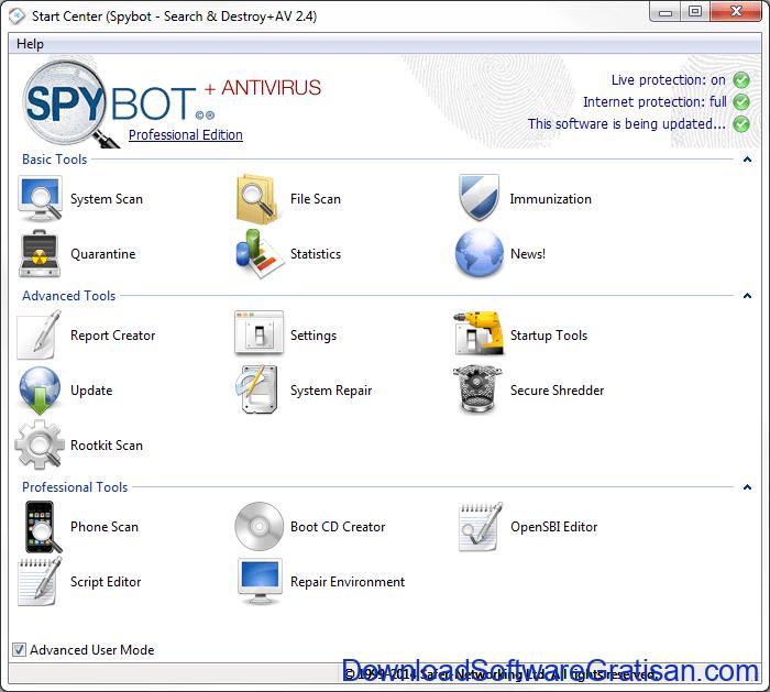 Anti Spyware Gratis Terbaik untuk PC spybot free