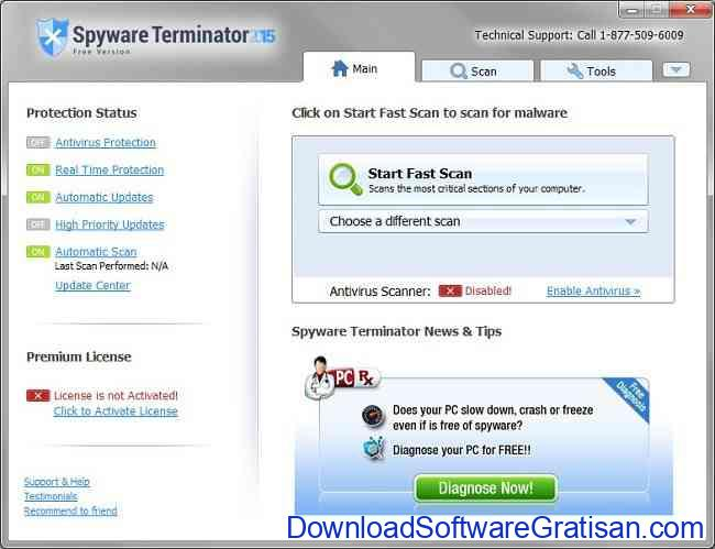 Anti Spyware Gratis Terbaik untuk PC spyware terminator free