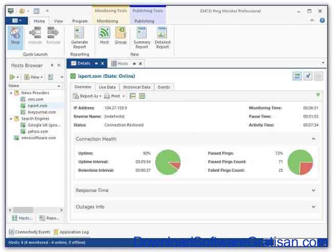 Aplikasi Cek & Monitor Ping Koneksi