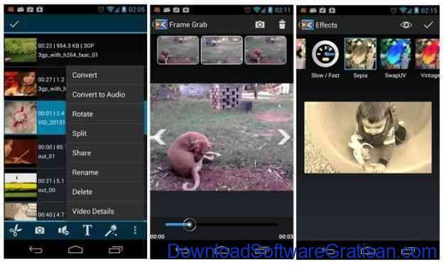 Aplikasi pemotong video gratis Android androvid