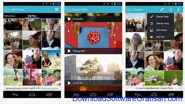 Aplikasi pemotong video gratis Android animoto