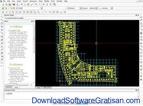 Aplikasi Gambar Teknik Gratis Mirip AutoCAD draftsight