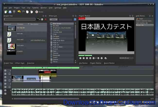 Aplikasi Edit Video PC Windows Gratis Terbaik kdenlive