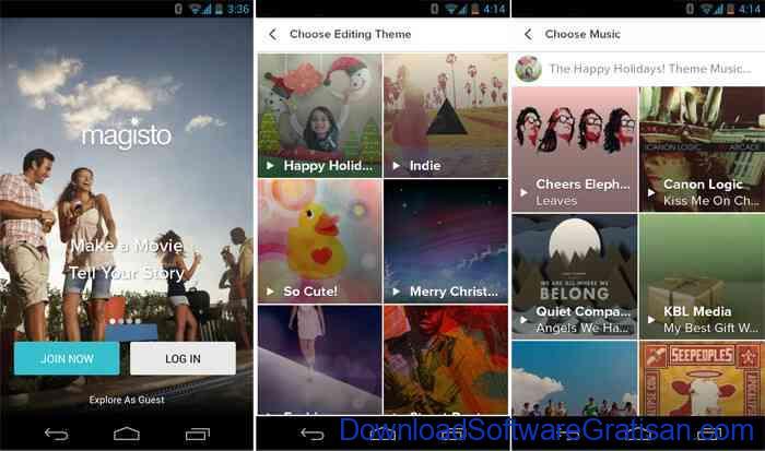 Aplikasi pemotong video gratis Android magisto