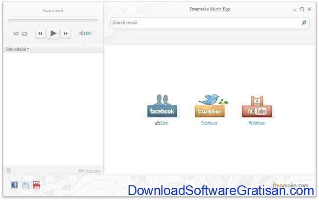 Aplikasi Pemutar Musik Online Freemake Music Box