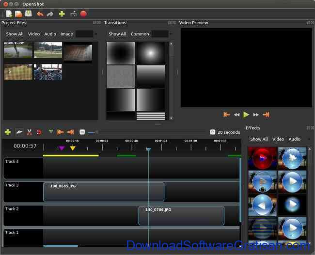 Aplikasi Edit Video PC Windows Gratis Terbaik openshot video editor