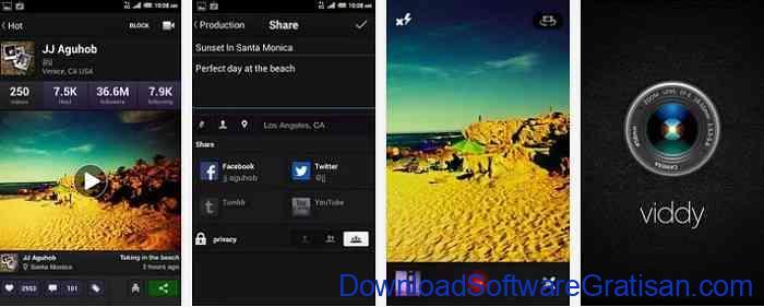Aplikasi pemotong video gratis Android viddy