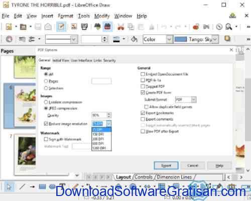 Aplikasi Kompres File PDF Offline Gratis PDF Libre Office Draw