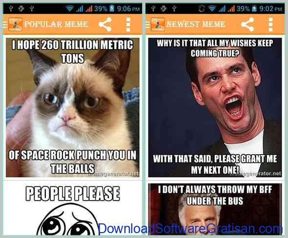 Aplikasi Pembuat Meme Android Meme Creator Free4Android