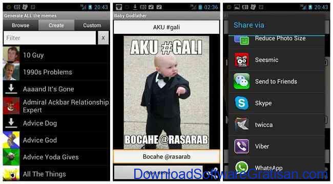 Aplikasi Pembuat Meme Android GATM Meme Generator