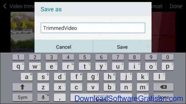 cara menyimpan video hasil edit video trimmer samsung android