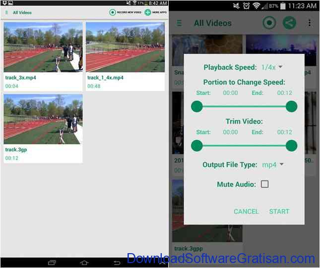 Aplikasi Video Slow Motion Terbaik Android fast slow motion video tool android