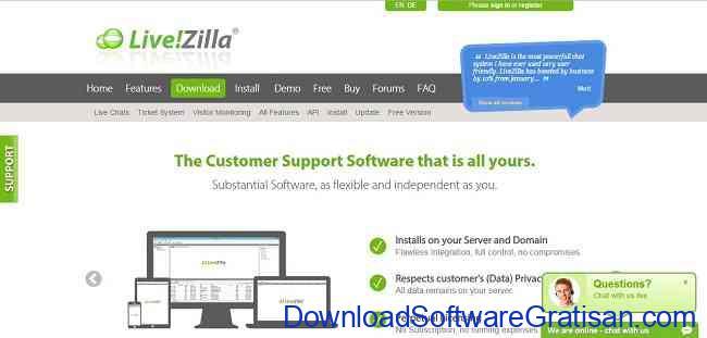 Aplikasi Gratis Terbaik untuk Live Chat di Website Kamu livezilla