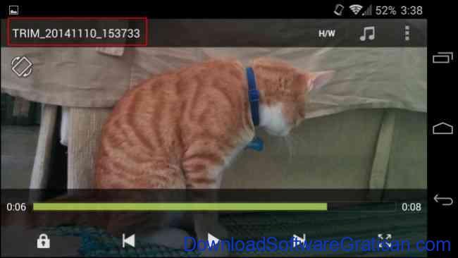 Cara Memotong Durasi Video di Hp Android mengubah nama file video yang dipotong