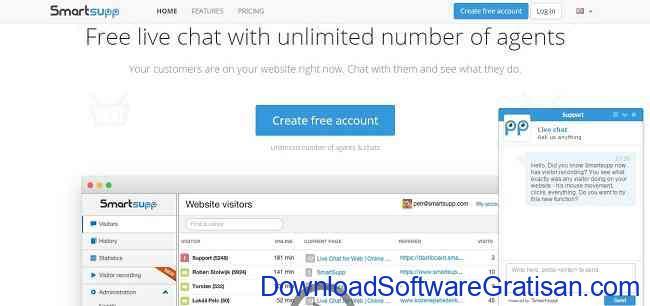 Aplikasi Gratis Terbaik untuk Live Chat di Website Kamu smartsupp