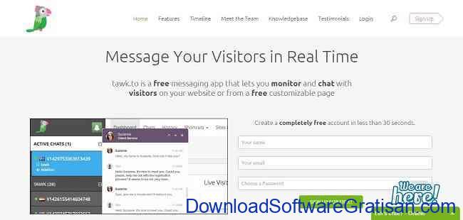 Aplikasi Gratis Terbaik untuk Live Chat di Website Kamu tawk.to