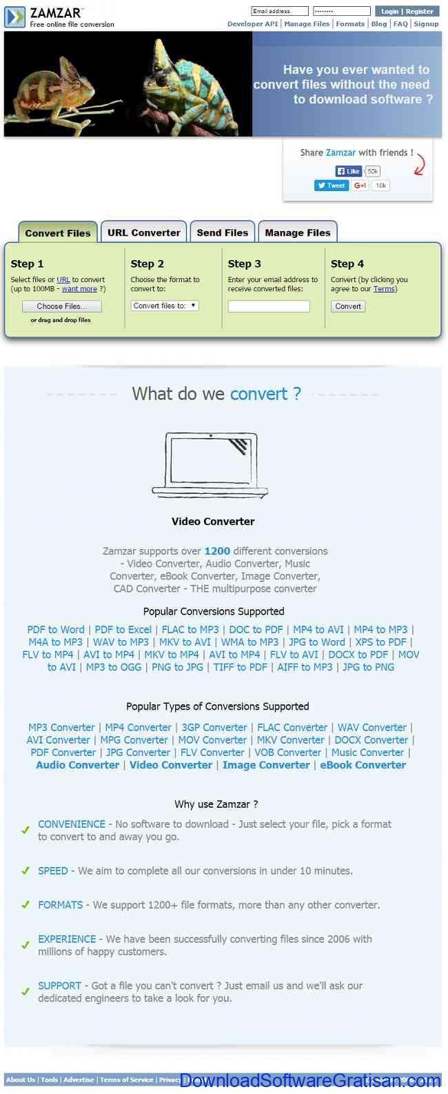 Aplikasi Kompres Video Online dan Offline zamzar-kompresi-video