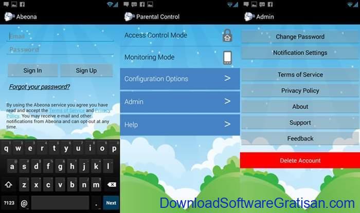 Aplikasi Pemantau HP Anak Gratis Terbaik Abeona Parental Control