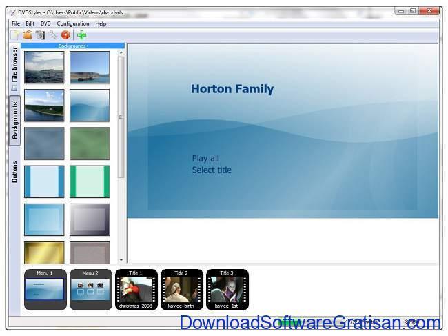 Aplikasi Burn dan Membuat DVD Gratis Terbaik DVD Styler