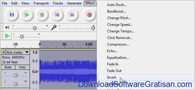 Aplikasi untuk Menghilangkan Suara Vokal pada Lagu audacity
