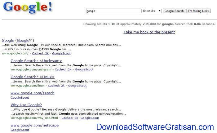 google-tahun-1998