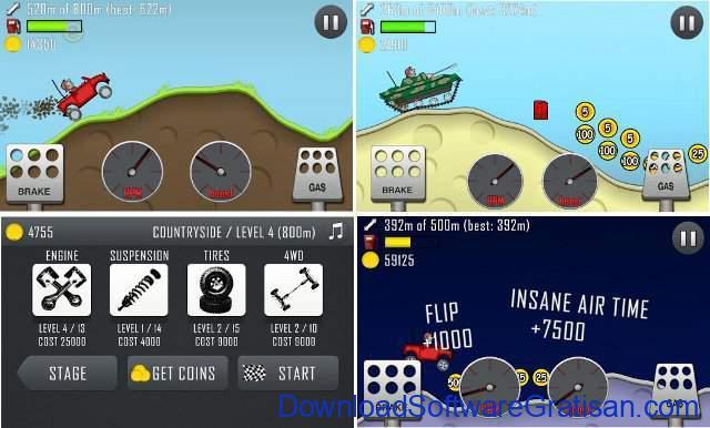 Game Balap Mobil Gratis untuk Hp Android hill climb racing