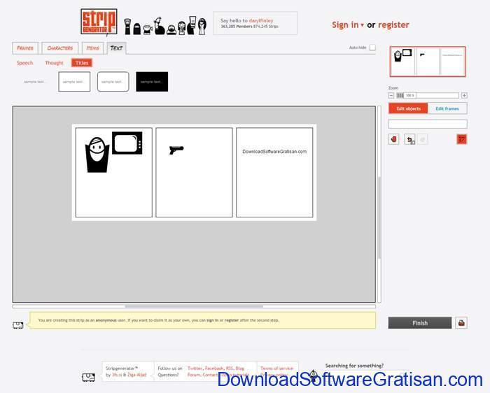 Cara Membuat Komik Sendiri dengan Cara yang Sederhana strip generator