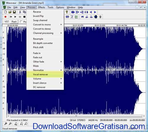 Aplikasi untuk Menghilangkan Suara Vokal pada Lagu wavosaur