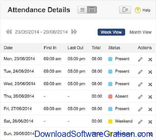 zoho people-attendance