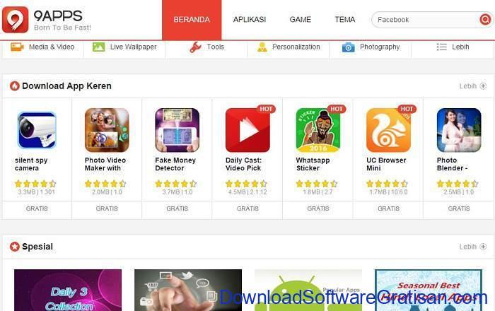 Situs Download Aplikasi Android Terpopuler & Terbaik 9apps