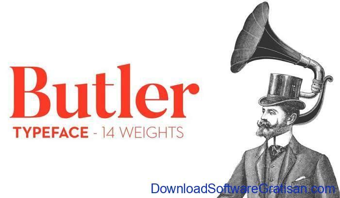 Butler Typeface by Fabian De Smet