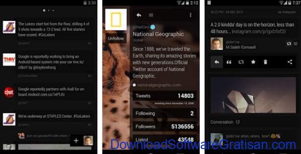 Aplikasi Twitter Terbaik Android Carbon for Twitter