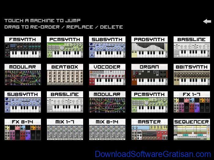Aplikasi Pembuat Musik Gratis Terbaik untuk Android Caustic 3