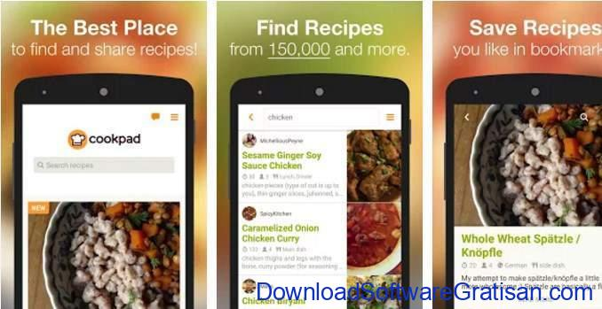 Game Memasak Gratis Android Cookpad (Recipe Search)