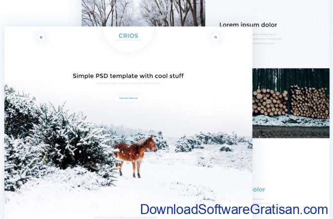 Crios Web PSD Template by symu.co