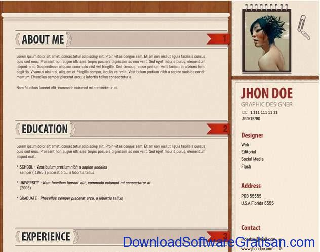 Curriculum Vitae Template by TemplateShock