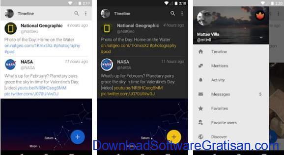 Aplikasi Twitter Terbaik Android Fenix for Twitter