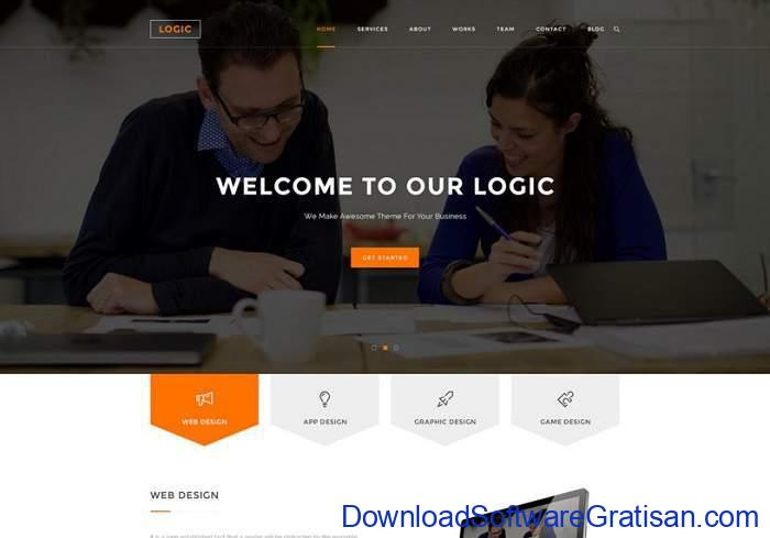 Logic Business PSD Template by Arifuzzaman Sajib