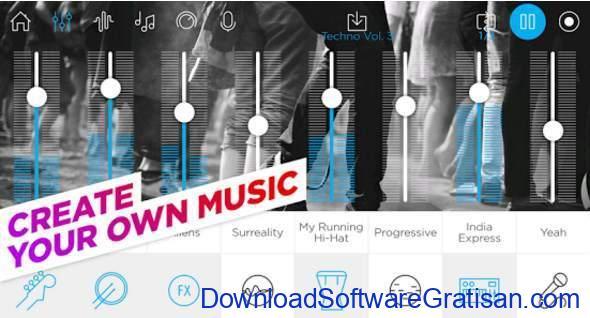 Aplikasi Pembuat Musik Gratis Terbaik untuk Android Music Maker Jam