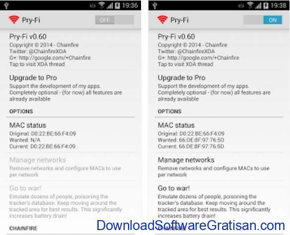 aplikasi yang membutuhkan root Pry Fi