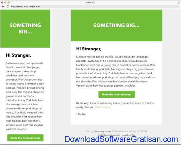 Responsive Email green