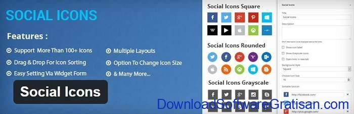 Social Icons WordPress Plugin by ThemeGrill