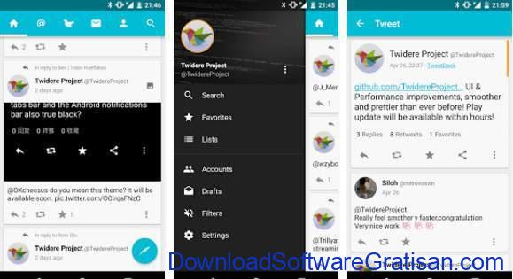 Aplikasi Twitter Terbaik Android Twidere for Twitter