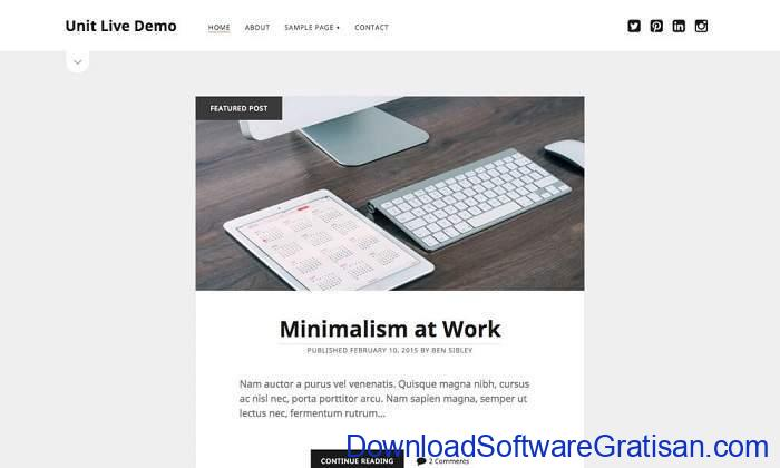 Unit WordPress Theme by Complete Themes
