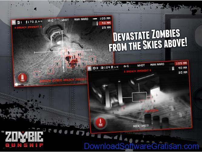 Game tembak terbaik Android Zombie Gunship Free