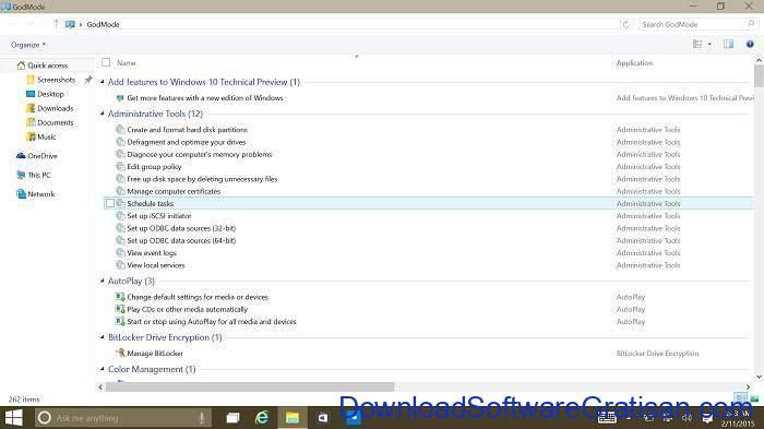 godmode pada windows 10