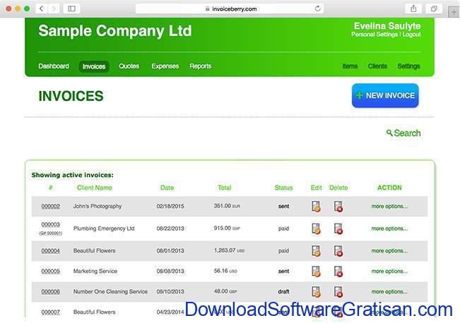 Aplikasi untuk Membuat Invoice invoiceberry