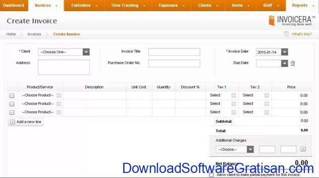 Aplikasi untuk Membuat Invoice invoicera