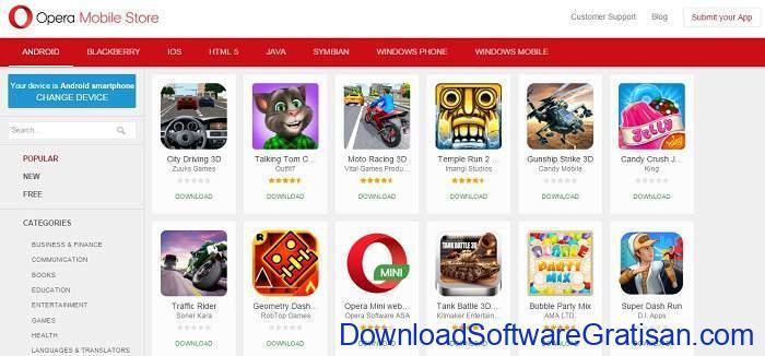 Situs Download Aplikasi Android Terpopuler & Terbaik opera mobile store
