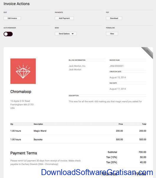 Aplikasi untuk Membuat Invoice ruby invoice